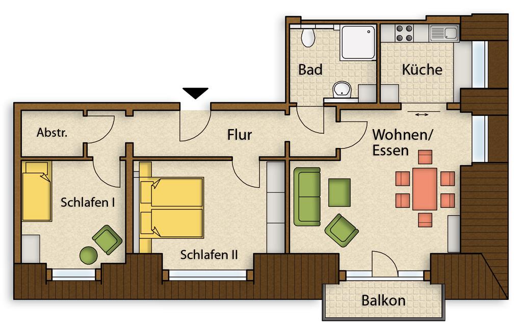 Grundriss Wohnung 3 Zimmer